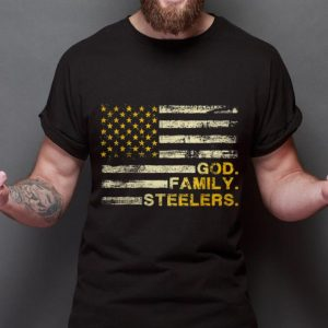 Awesome Trend God Family Steelers Pro American Flag shirt
