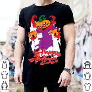 Beautiful Pumpkin Evil Wizard Happy Halloween shirt