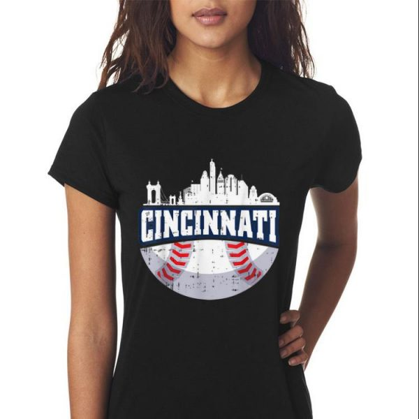 Cincinnati Baseball Skyline Ohio Baseball sweater