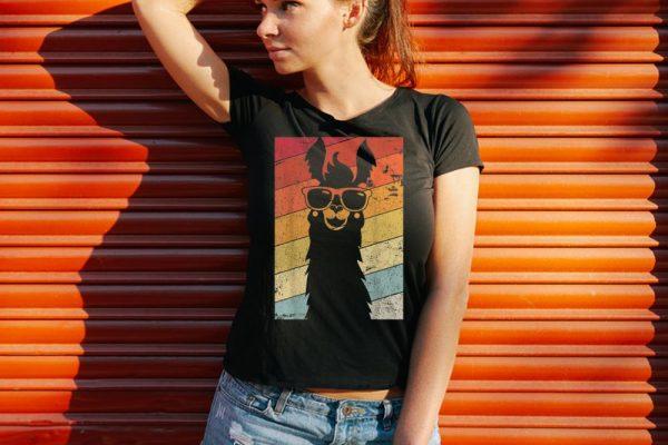 Funny Llama Alpaca Vintage shirt