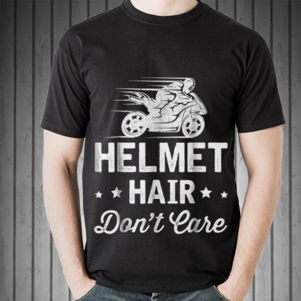 Helmet Hair Don't Care Motorcycle Moped Bike sweater