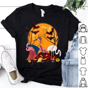 Hot Flamingo Lover Funny Pumpkin Halloween Costume Party Gifts shirt