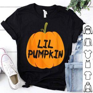 Nice Halloween Pregnancy Women Lil Pumpkin Announcement Party shirt