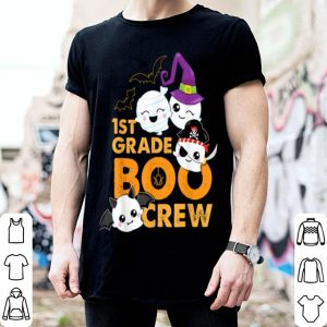 Official 1st Grade Boo Crew Halloween Teacher Kids School Ghost shirt