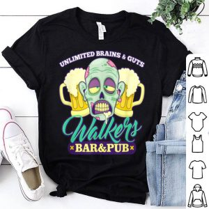 Official Walkers Bar And Pub Funny Zombie Halloween shirt