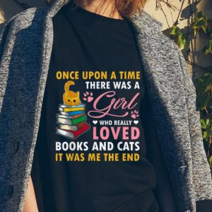 Once Upon A Time There Was A Girl Who Really Loved Book And Cats sweater