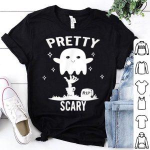Premium Halloween Costume - Pretty Scary Ghost Boo shirt
