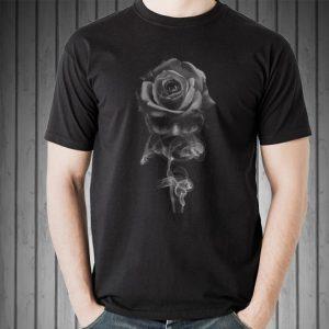 Skull Rose Smoke sweater