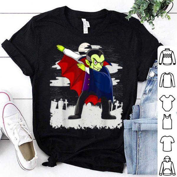 Top Dabbing Dracula Funny Vampire Halloween Costume Holiday Kids shirt