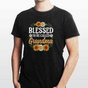 Awesome Blessed To Be Called Grandma Sunflower shirt