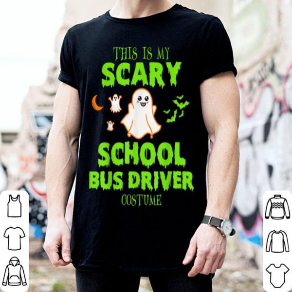 Awesome Scary School Bus Driver Costume Halloween shirt