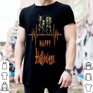 Awesome Skeleton Heartbeat Happy Halloween Doctor Or Nurse shirt