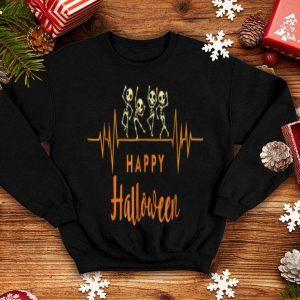 Awesome Skeleton Heartbeat Happy Halloween Doctor Or Nurse shirt