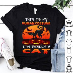 Beautiful I'm Really A Cat Halloween This Is My Human Costume shirt