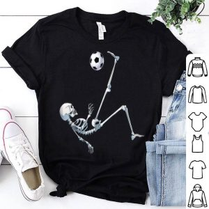 Beautiful Skeleton Soccer Football Halloween Costume Gifts Tee shirt