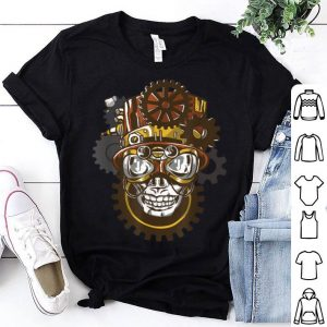Beautiful Steampunk Goggles Skull Head with Top Hat Gears Gothic Gifts shirt