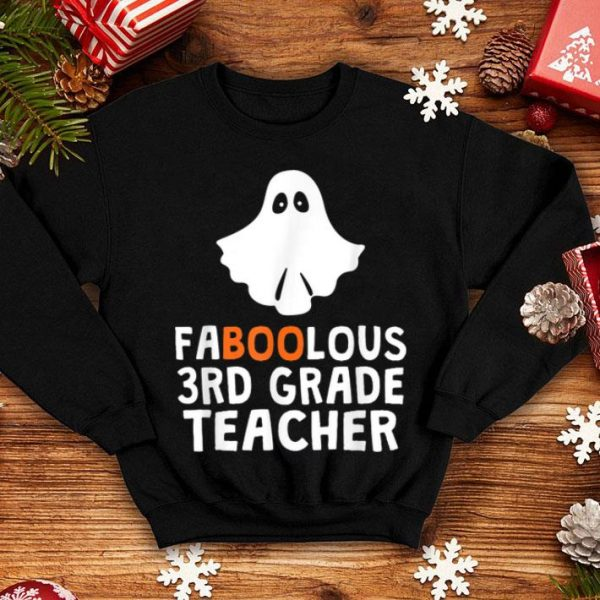 Faboolous (fabulous) 3rd Grade Teacher Halloween shirt