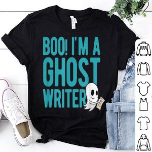 Funny Cute halloween boo I'm a ghost writer shirt
