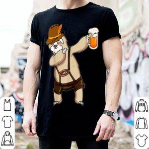 Funny Dabbing Sloth Oktoberfest Beer shirt