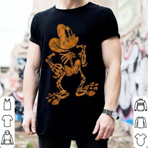 Funny Disney Mickey Mouse Halloween Skeleton shirt