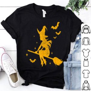 Funny Witch Riding Broomstick Halloween Costume Men Women Gift shirt