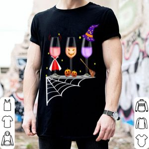 Glasses Of Wine Halloween Costume Dracula Pumpkin shirt