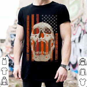 Halloween American Flag Usa Patriotic Skull Costume shirt