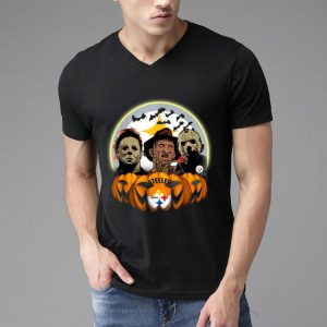 Halloween Pittsburgh Steelers Jason Leatherface Freddy Retro shirt