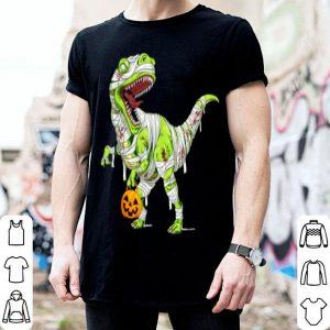 Halloween Pumpkin Dinosaur Gift For Kids Boys Girls shirt