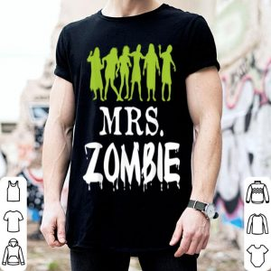 Mrs. Zombie Couple Matching Halloween Party Costume shirt