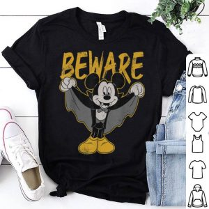 Nice Disney Mickey Mouse Dracula Costume Beware Retro shirt