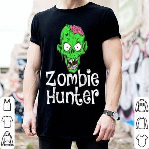 Nice Halloween Zombie Hunter Funny Party Gift Kids Boys shirt