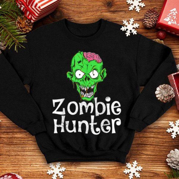 Nice Halloween Zombie Hunter Funny Party Gift Kids Boys shirt