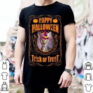 Nice Happy halloween Sphynx cat Witch Pumpkin Trick or Treat shirt