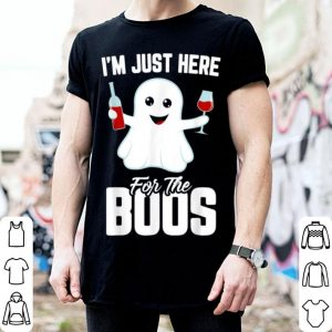 Nice I'm Just Here For The Boos Funny Halloween Wine shirt