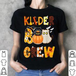 Nice Kinder Crew Kindergarten Teacher Halloween Boo Gift shirt