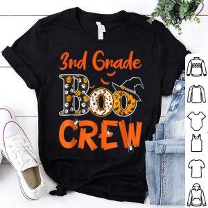 Official 3rd Grade Boo Crew Teacher Kids Halloween Gift shirt