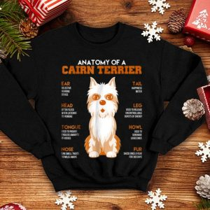 Official Anatomy Of A Cairn Terrier Dogs Funny Gift shirt