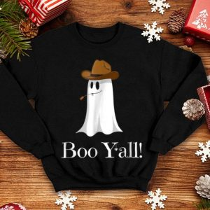 Official Boo Y'all! Funny Halloween Cowboy Hat Ghost shirt