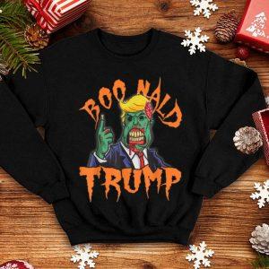 Official Boo-nald Trump Halloween 2019 Zombie Trump Funny Tee shirt
