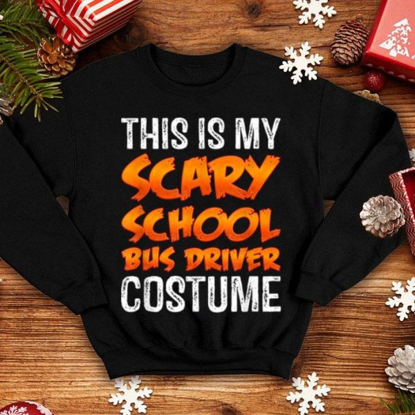 Official This Is My Scary School Bus Driver Costume Funny Halloween shirt