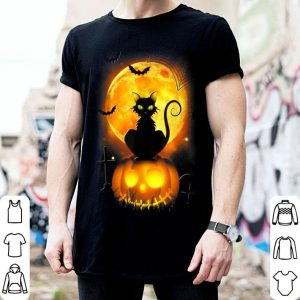 Original Black Cat Pumpkin Moon Halloween Costume Funny shirt