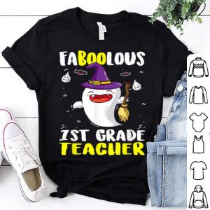 Original Boo Ghost 1st Grade Teacher Hat Witch Halloween shirt
