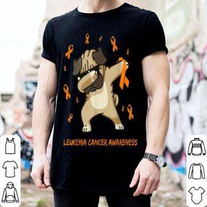 Original Dabbing Pug Leukemia Cancer Awareness Dog gifts shirt