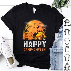 Original Funny Happy Camp O Ween Camping Halloween Costume Pumpkin shirt