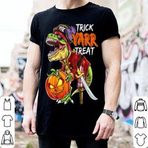 Premium Pirate Dinosaur Halloween Pumpkin Jack-O-Lantern Kids shirt