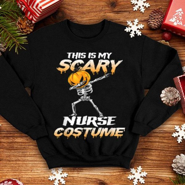This Is My Scary Nurse Costume Pumpkin Skeleton Halloween shirt