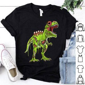 Top Halloween Zombie Trex Dinosaur Skeleton Costume Kids shirt