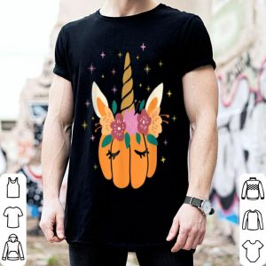 Top Unicorn Pumpkin Unicorn Halloween Women shirt