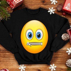 Zipper-Mouth Face Emoji Costume- halloween shirt